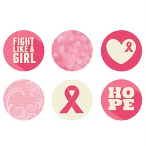 Picture of Breast Cancer Awareness Medium Locket Backdrops